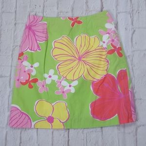 Lilly Pulitzer Bahama Mama Floral Hibiscus Skirt